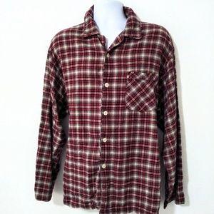 Gap Mens Red Plaid Flannel Button Down Shirt